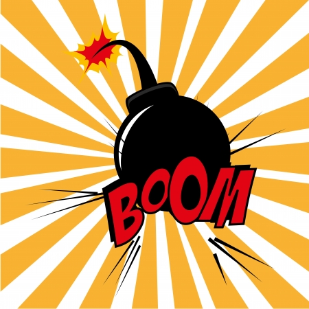 Bomb design over grunge  background vector illustration  Stock Vector - 21533103