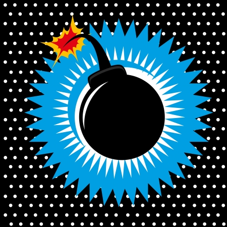Bomb design over dotted  background vector illustration    Illustration