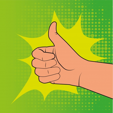 comics ok icon over doted green background vector illustration    Vector