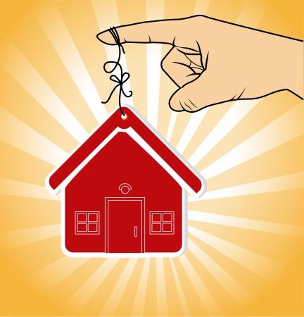 sustained: real estate design over orange background vector illustration