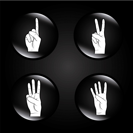 hands bubbles over black background vector illustration Stock Vector - 21533223