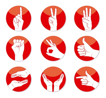 hands design over white background vector illustration Stock Vector - 21533252