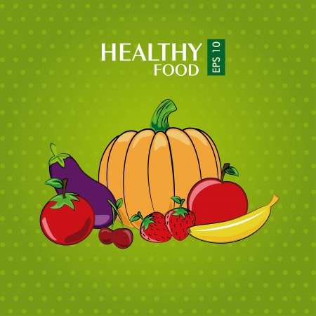 healthy food design over green background vector illustration Vector