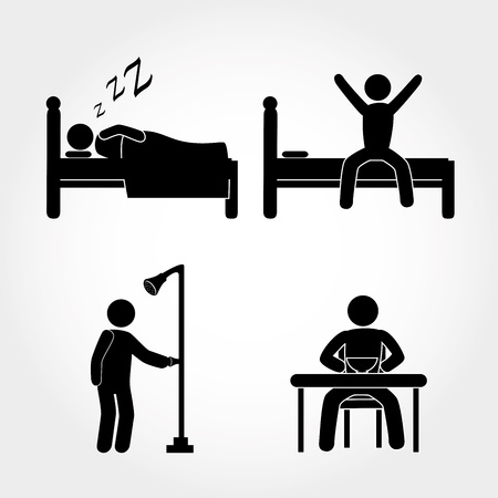 adult learning: activity icons over white background vector illustration