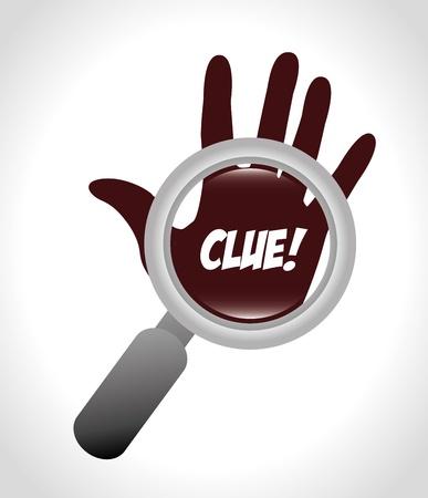 clue: clue design over gray background vector illustration