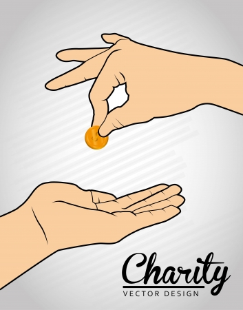 charity design over gray background vector illustration  Vector