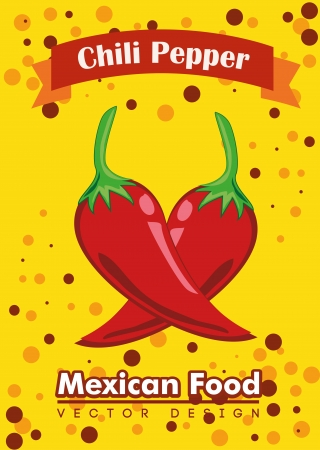 mexican food over yellow background vector illustration  Vector