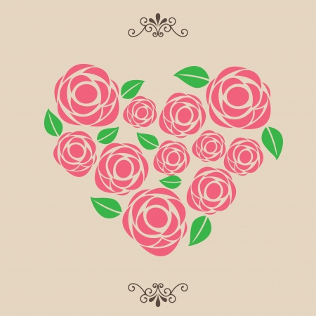 love design over beige background  Vector
