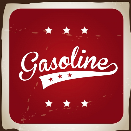 gasoline design over red background Stock Vector - 21678616