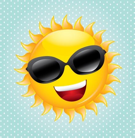 smyle: summer design over dotted background  Illustration