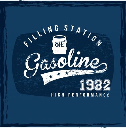 filling station: filling station over blue background  Illustration