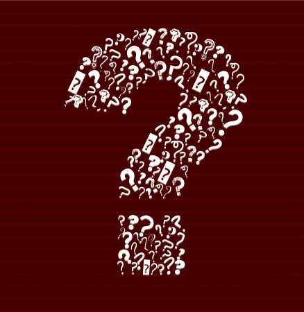 redwine: question design over red-wine background