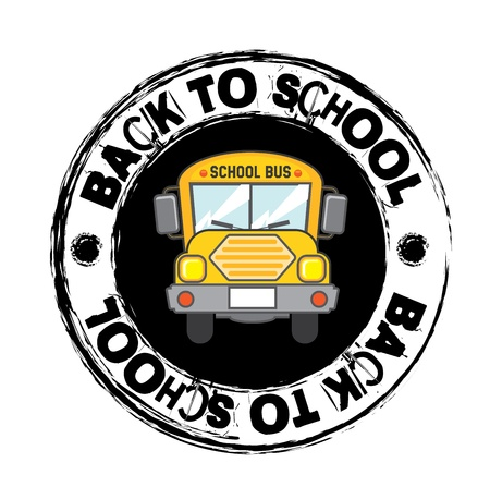 school bus icon over white  background  Vector