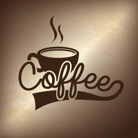 coffee design over bronze background  Illustration