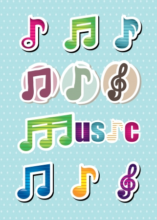 music design over dotted background  Stock Vector - 21678808
