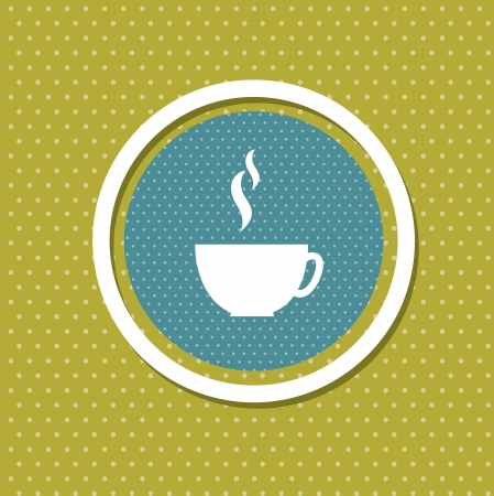 coffee design over green background  Vector