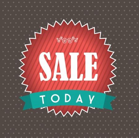 big sale design over dotted background illustration  Vector