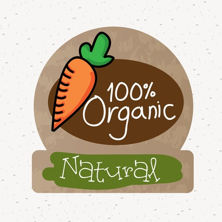 organic label over white background  Vector