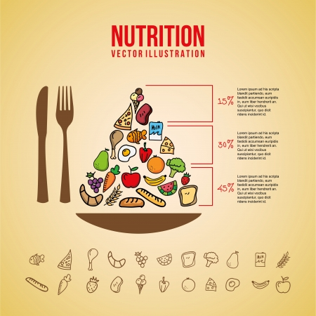 nutrition design over pink background