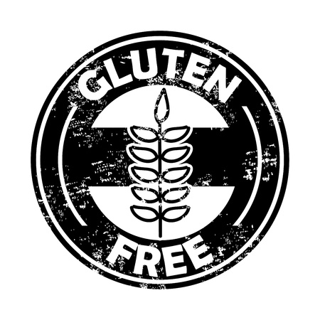gluten free seal over white background  Vector