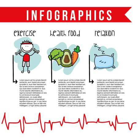 nutrition infographics over white background
