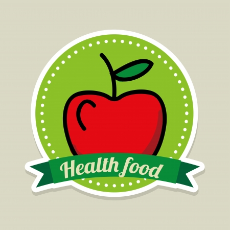 healthy food over gray background  Vector