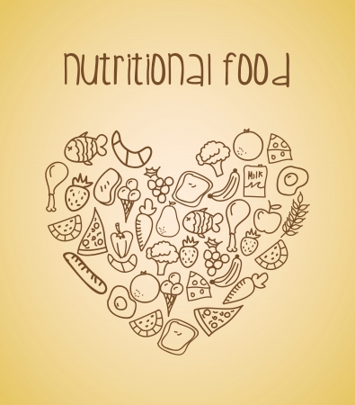 nutritional: nutritional,food over cream background