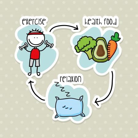 Ernährung Infografiken über weißem Hintergrund