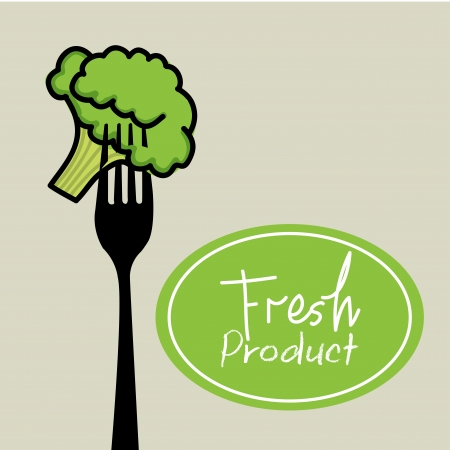 fresh product over gray background Illustration