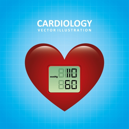 cardioid: cardiology design over blue background