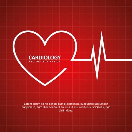 cardioid: dise�o cardiolog�a sobre fondo rojo