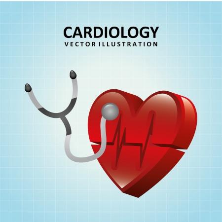 cardiologist: cardiology design over blue background