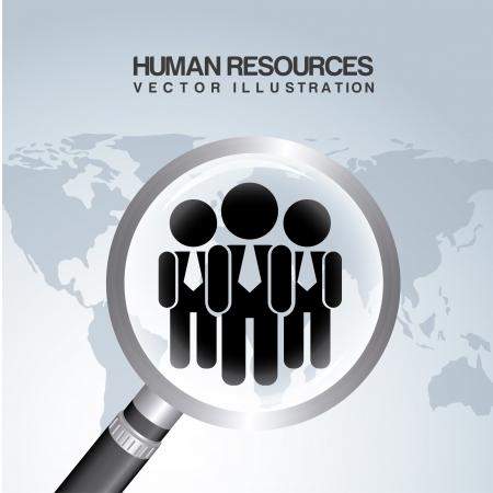 work worker workforce world: human resources over gray background