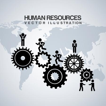 recurso: recursos humanos sobre o fundo cinzento