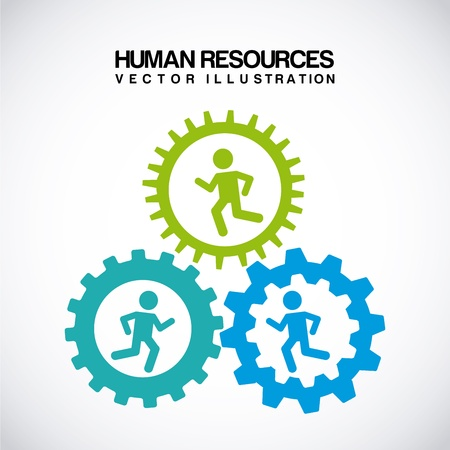 human resources over gray background