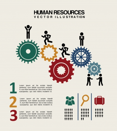 human resources over white background