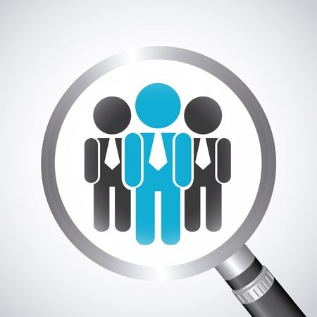 human resources: human resources over gray background