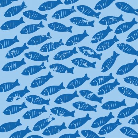 sea food: sea food skin over blue background