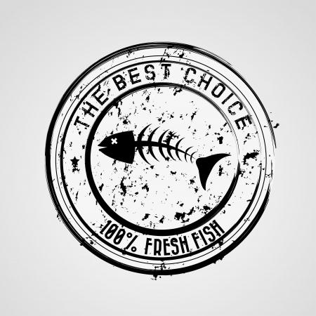 sea food: sea food design over gray background  Illustration