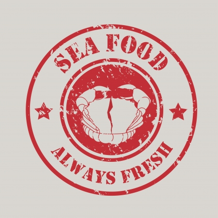 sea food design over gray background  Vector
