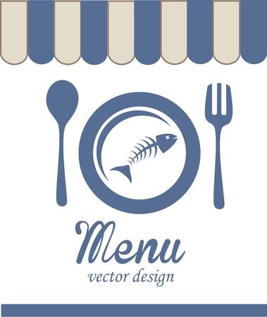 sea food: sea food design over white background