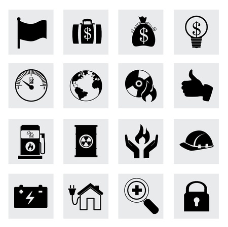 think tank: business icons over white background  Illustration