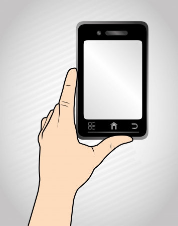 touch screen over gray background Stock Vector - 21679142