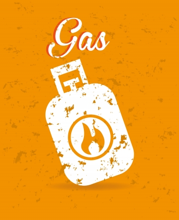 compressed gas: gas design over orange background  Illustration