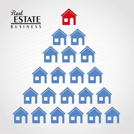 real estate design over gray background illustration  Vector