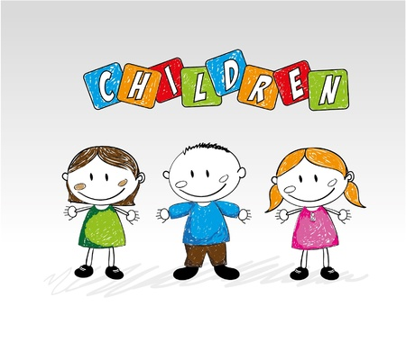genders: children design over gray background illustration
