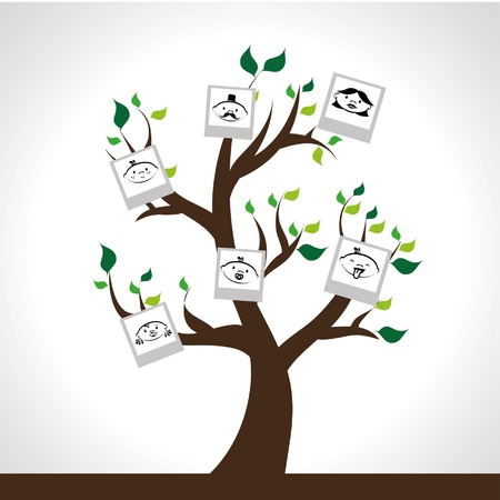 family tree design over gray background illustration  Vector