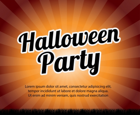 halloween party over grunge background vector illustration Stock Vector - 21875239