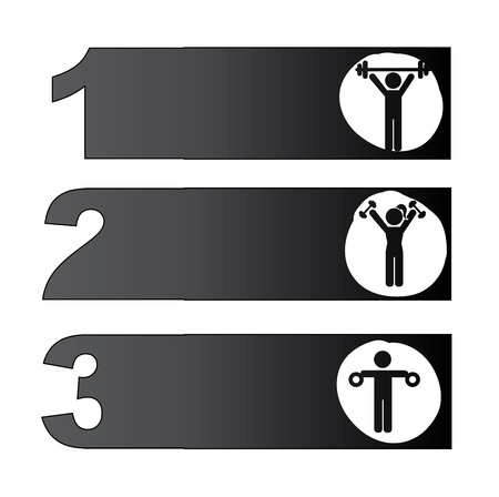 Fitness Icons over white background  vector illustration Vector