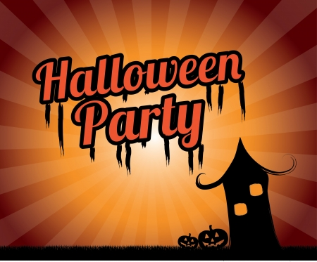 halloween party over grunge background vector illustration Stock Vector - 21875257